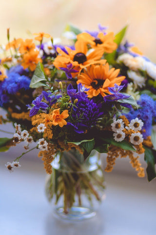 flower bouquet with rudbeckia