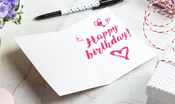 Happy Birthday Gift Card - From $10 to $100