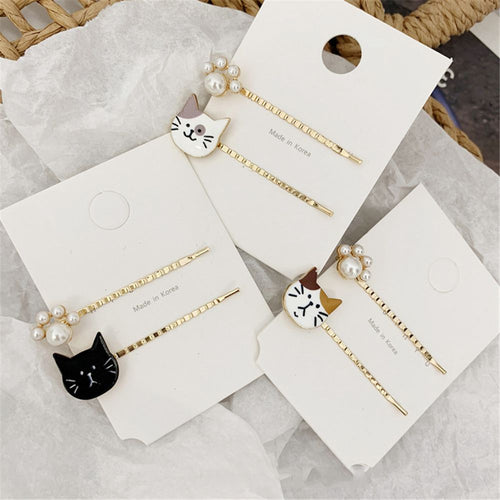 2pcs/Set Cat/Dog hair clip barrette