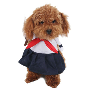 Schoolgirl Cosplay pet costume