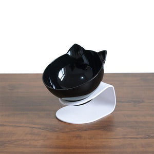 Cat ear shaped transparent pet bowls - party-paw