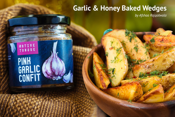 Garlic & Honey Baked Wedges