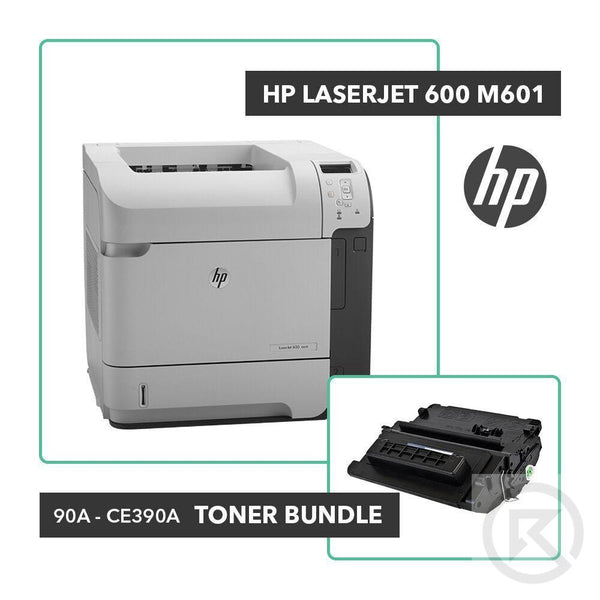 HP Laserjet 600 M601 Printer Toner Bundle W/ HP OEM 90A CE390A-Printer-RefurbConnect-Refurbished-Computers-Laptops-Printers-New York