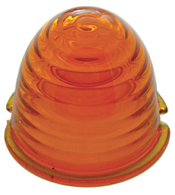 Amber Beehive Glass Marker Light Lens