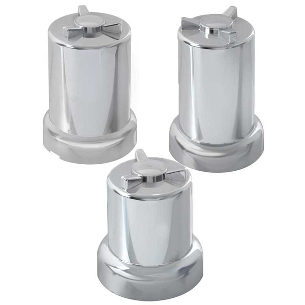 Chrome Plastic Round Spinner Lug Nut Covers