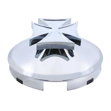 Front Hub Cap with Spinner 4 Even Notched with 1 Inch Lip