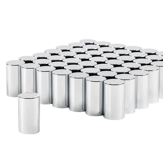 60 Pack Of 33mm X 3 1/2 Inch Push-On Cylinder Nut Covers