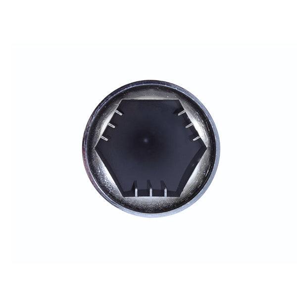 Chrome Plastic Super Spike Push-On Nut Cover