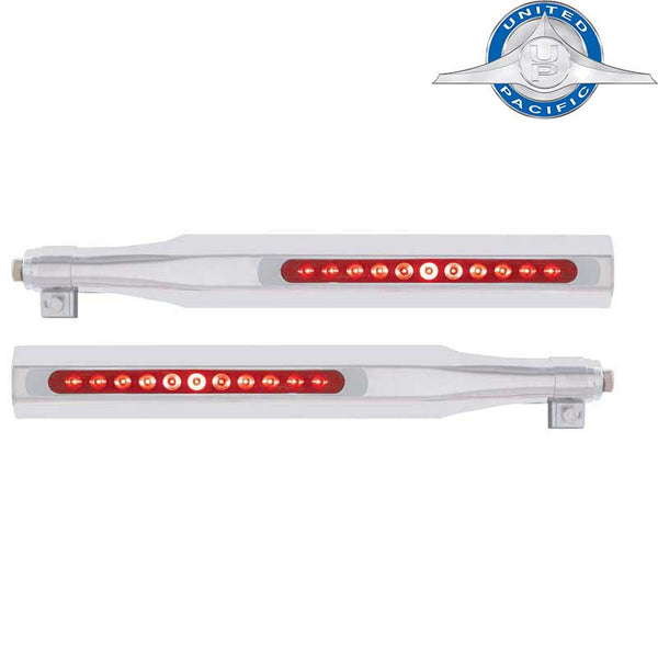 Deluxe Stainless Quarter Fender Bracket with Bezel (UP10816) Red LED Red Lens