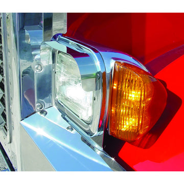 Peterbilt 379 Single Rectangular Headlight Visors