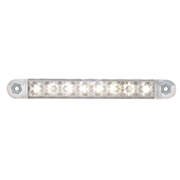 8 LED 5 Inch Light Bar With White LEDs And Clear Lens