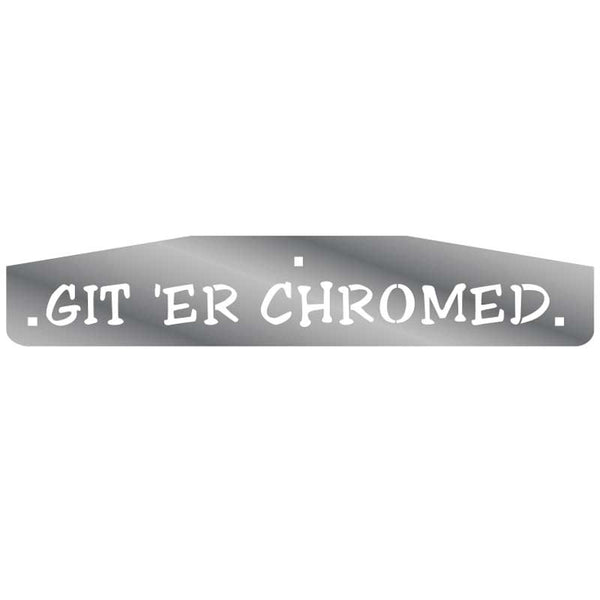 Peterbilt Designer Flap Weights Git er Chromed