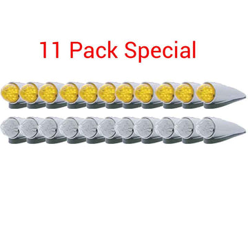 11 Pack of 19 LED Watermelon Cab Light with Housing