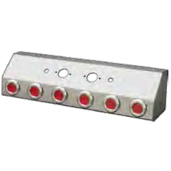 "AIR LINE BOX W/DOUBLE CNCTR & 6 R/R 2"" FLAT LEDS"