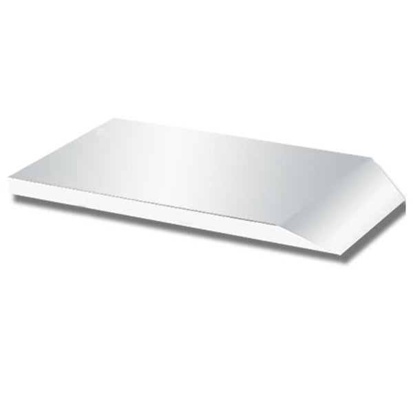 "Smooth Stainless Tapered Deck Plate 83"" x 33"""