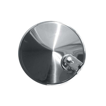 8 Inch Convex Stainless Steel Mirror with Offset Bracket