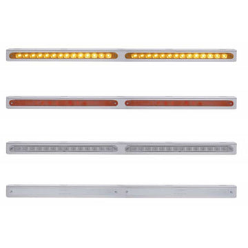 25 Inch Stainless Bracket w/ Two 14 LED 12 Inch Light Bar