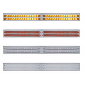 25 Inch Stainless Bracket w/ Four 14 LED 12 Inch Light Bar