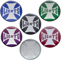 Lights Maltese Cross Dash Knob Sticker