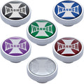 Washer Chrome Dash Knob With Maltese Cross Sticker