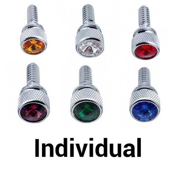 Chrome PB Dash Screws w/Jewel (Bulk)