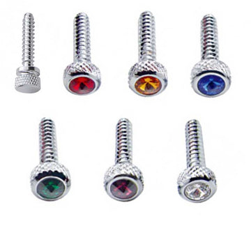 Freightliner Chrome Short Dash Screws with Diamond in Pairs