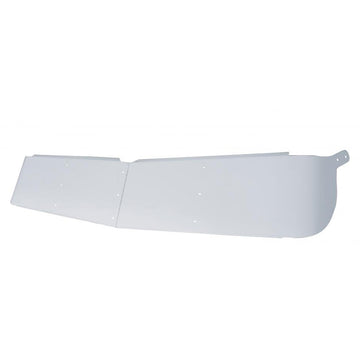 Kenworth 12 Inch Stainless Curved Windshield Drop Visor