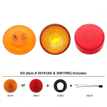 2 Inch Clearance And Marker Light Kit With Amber Lens