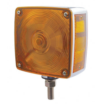 Square Double Face Turn Signal Light With Single Stud