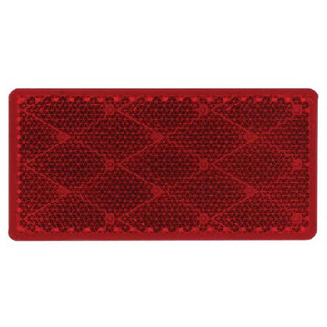 Red Rectangular Reflector with Adhesive Backing