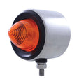 Stainless Steel 2 Inch Double Face Light w/ Amber/Red Lens