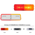 Rectangular Fender Clearance And Marker Lights With Bracket