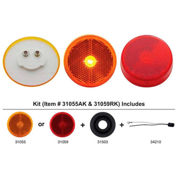 2 1/2 Inch Reflectorized Clearance And Marker Light Kits