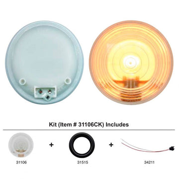 4 Inch Back Up Light Kit With Clear Lens