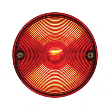 Universal Stud Mounted Stop, Turn And Tail Light With Red Lens