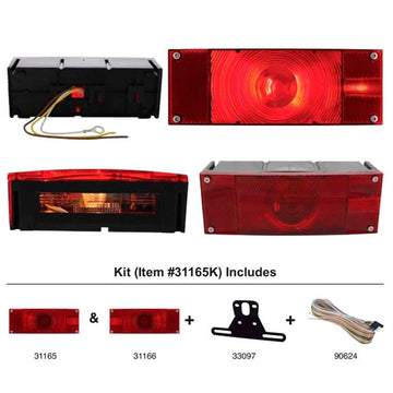 Rectangular Submersible Combination Light Kits For Over 80 Inches
