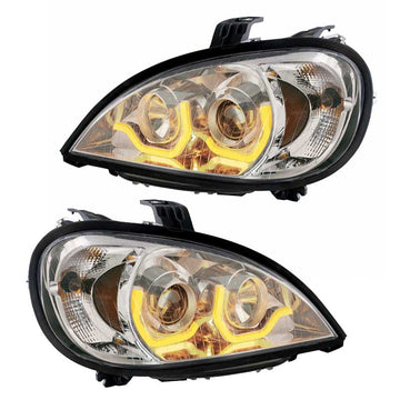 96+ Freightliner Columbia Chrome Projection Headlight