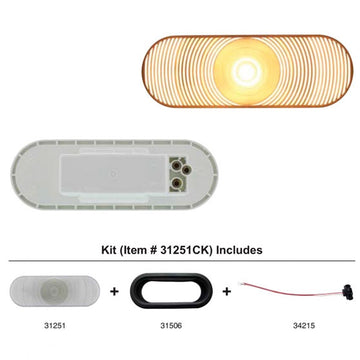 Incandescent Oval Back Up Light Kit With Clear Lens