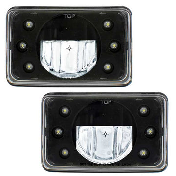 6 Inch x 4 Inch LED Crystal Headlight in High or Low Beam