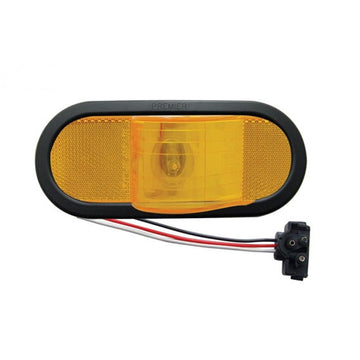 Oval Mid Trailer Turn Signal Light Kit With Amber Lens