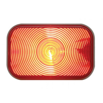 Rectangular Stop, Turn And Tail Light With Red Lens