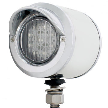 Stainless 2 Inch Double Face Light With 9 LED 2 Inch Lights And Visors