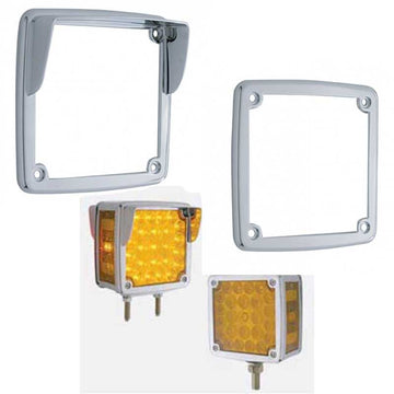 Chrome LED Square Double Face Light Bezel UP38750 Series