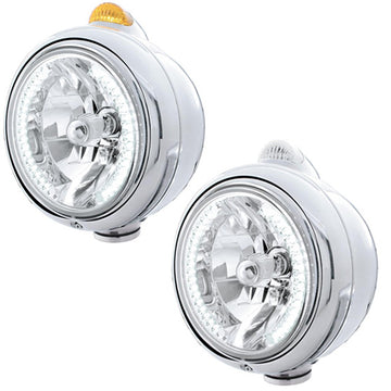 Guide Headlight With 34 White LEDs And Dual Function LED Turn Signal