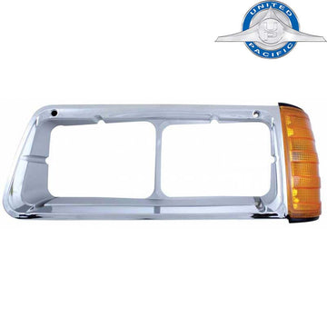 Freightliner FLD Headlight Bezel with Turn Signal 1990-2007