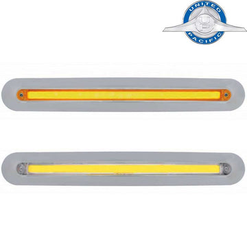 25 Amber LED 12 Inch GLO Mirror Light Bar with Housing-05+