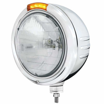 "PB SS ""Classic"" Embossed Stripe Headlight w/ H6024 Halogen"