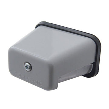 Gray Rectangular License Light
