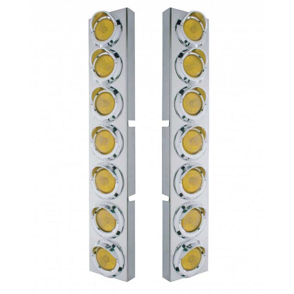 Kenworth Front Air Cleaner Brackets with 14 Incandescent 2 In Lights