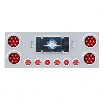Competition Series Rear Center Panel With LED Lights And Bezels